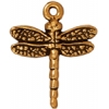 Charm Dragonfly Antique Gold